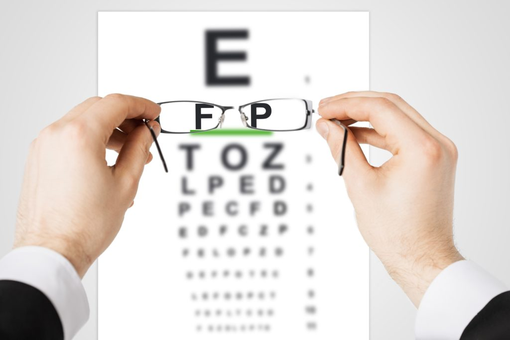 Badanie wzroku na optotypie