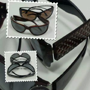 Okulary przeciwsłoneczne z ochroną UV i polaryzacją.